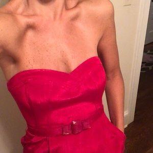 Rebecca Taylor fuschia strapless dress size 4